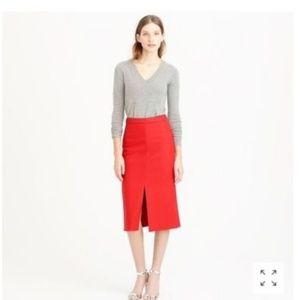 BLACK J.Crew wool blend front slit skirt Sz 0